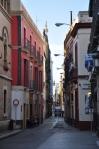 The narrow streets of Santa Cruz