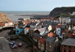The fishing village of Staithes and the rugged Yorkshire coastline