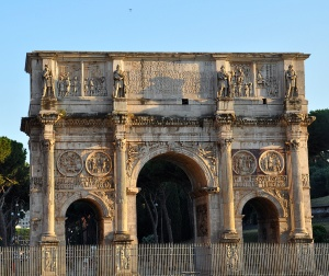 The arch of Constantine...