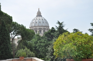 ...and the dome of St Peter's in the Vatican.
